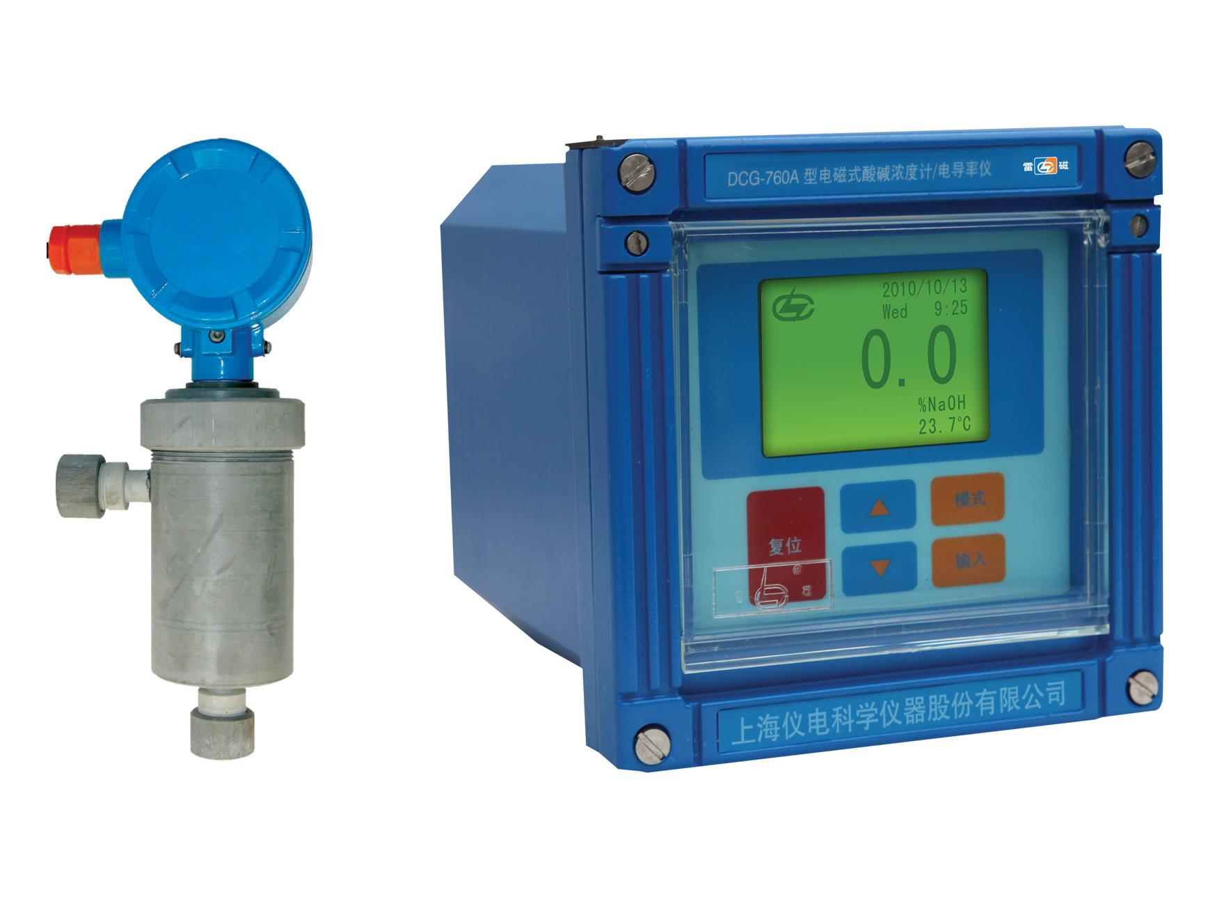 雷磁电磁式酸碱浓度计/电导率仪DCG-760A型