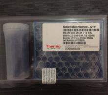 赛默飞质谱认证  2mL 透明 I-D 样品瓶 蓝色 bonded 瓶盖    聚四氟乙烯/硅树脂 100/包