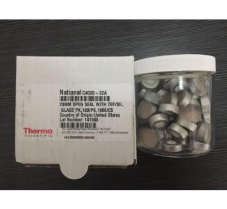 赛默飞 20mm开口盖,带PTFE/硅树脂,100/包