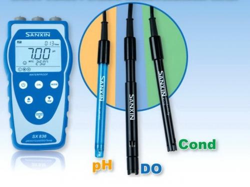 三信SX8系列便携式PH/电导率/溶解氧SX836型