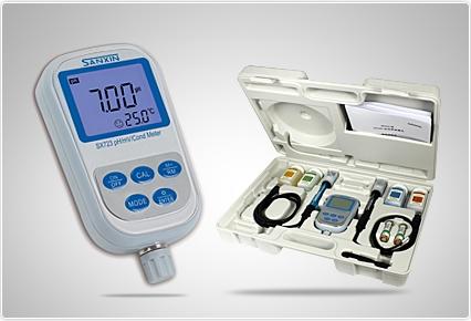 三信便携式双参数测量仪SX723 PH/电导率计